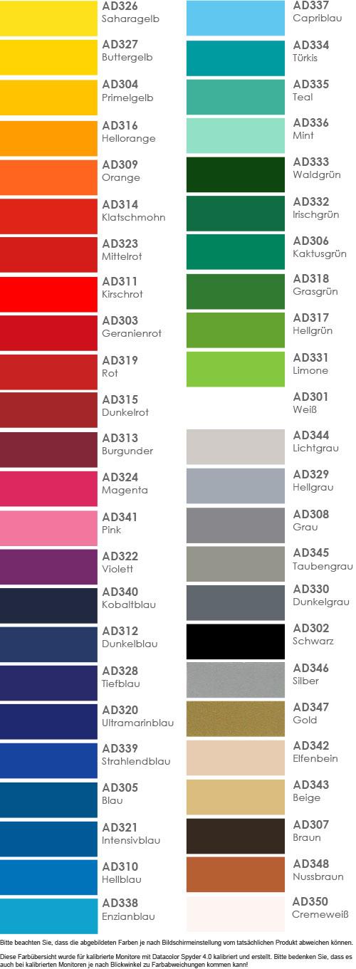 farbige Adhäsionsfolie in 48 Farben glänzend und matt