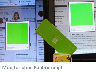 Farbwiedergabe bei Monitoren ohne Kalibrierung
