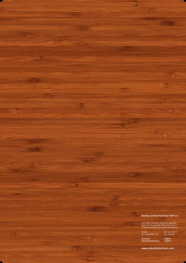 Dunkle bambus holzdekor klebefolie in premium qualit t for Holzdekor klebefolie