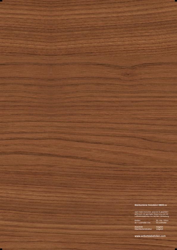 Edelkastanie holzdekor klebefolie in premium qualit t for Holzdekor klebefolie