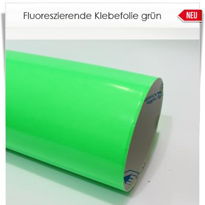 Fluoreszierende grüne Klebefolie