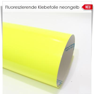 Fluoreszierende neongelbe Klebefolie