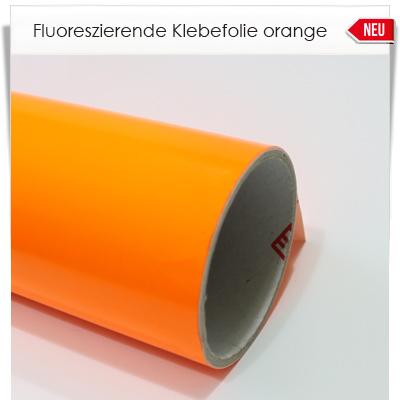 Fluoreszierende orange  Klebefolie