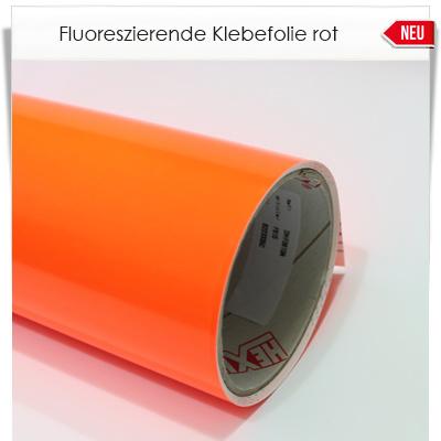 Fluoreszierende rote Klebefolie