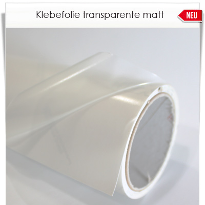 Klebefolire transparent matt