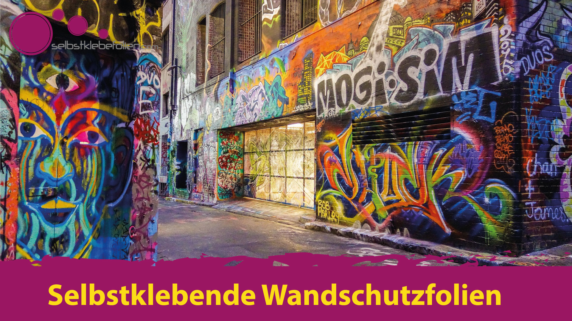 Selbstklebende Wandschutzfolie