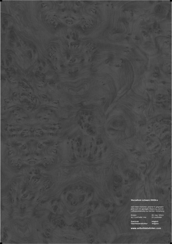 Wurzelholz schwarz holzdekor klebefolie for Holzdekor klebefolie