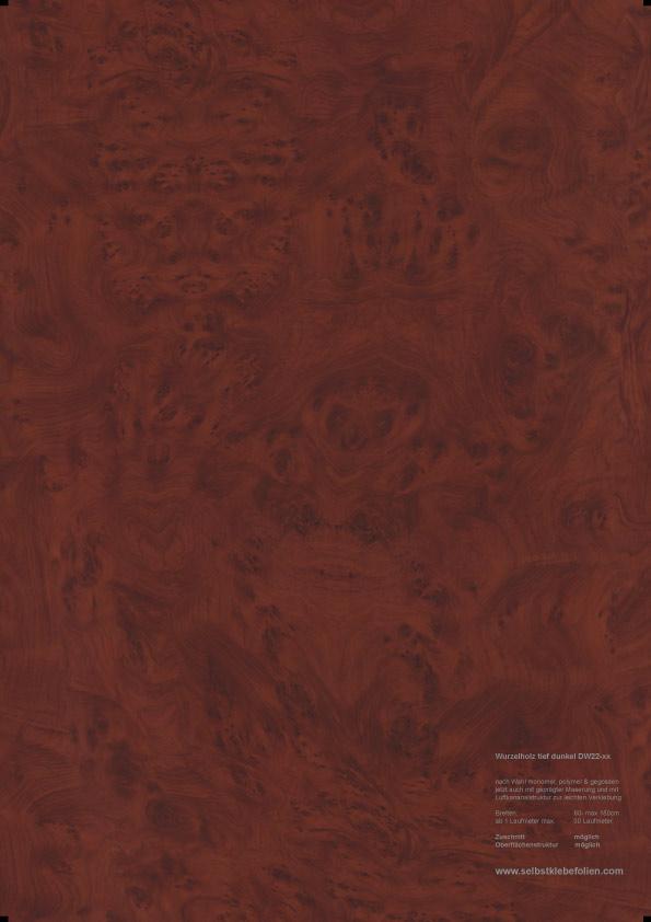 Tief dunkel wurzelholz holzdekor klebefolie for Holzdekor klebefolie