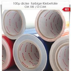 140µ dicke farbig matte Klebefolie