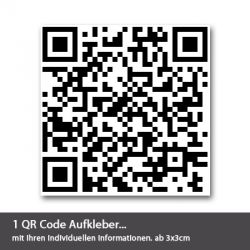 qr code aufkleber. Black Bedroom Furniture Sets. Home Design Ideas