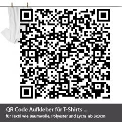 qr code aufkleber f r t shirts. Black Bedroom Furniture Sets. Home Design Ideas