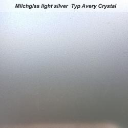 Avery Crystal Milchglasfolie light silver