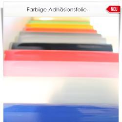 Farbige Adhäsionsfolie für glatte Oberflächen