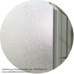 Glasdekorfolie mit Floralem Muster 02