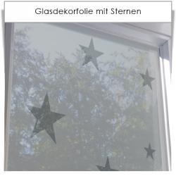 Glasdekorfolie mit Sternen