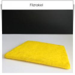 Kunststoffrakel mit Filzkante