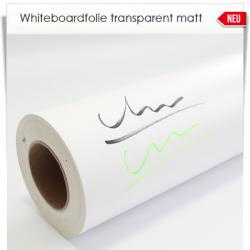 Whiteboardfolie transparent matt