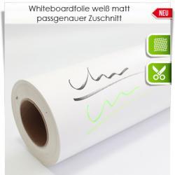 Zuschnitt Whiteboardfolie weiß matt