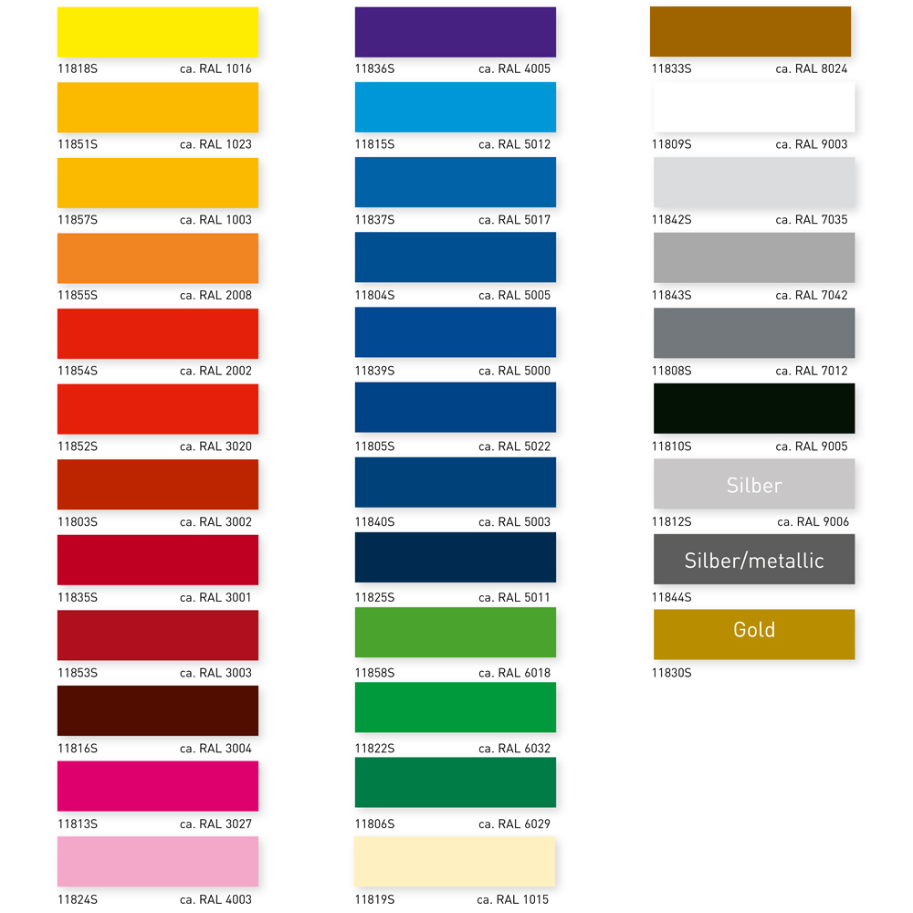 Gut gemocht polymere Plotterfolie ASLAN C118 YC78