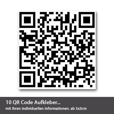 QR Code Aufkleber 10 Stück