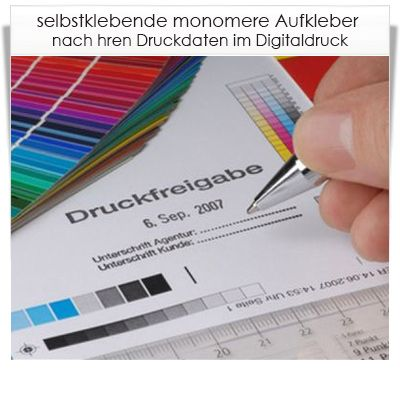 Digitaldruck Aufkleber monomer