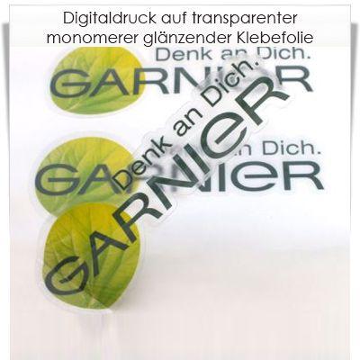 Digitaldruck auf transparenter Klebefolie monomer glänzend