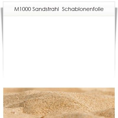 Sandstrahlfolie für Glas und Stein