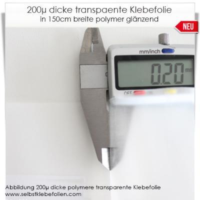 200µ dicke monomere Klebefolie transparent glänzend