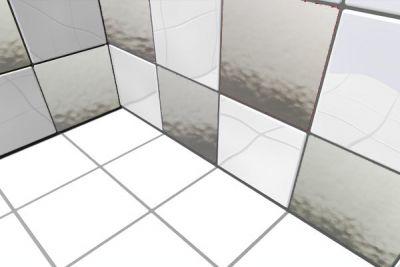 Spiegel Fliesenaufkleber 1m²