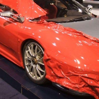 fahrzeug vollverklebung car wrap folie orange 05. Black Bedroom Furniture Sets. Home Design Ideas