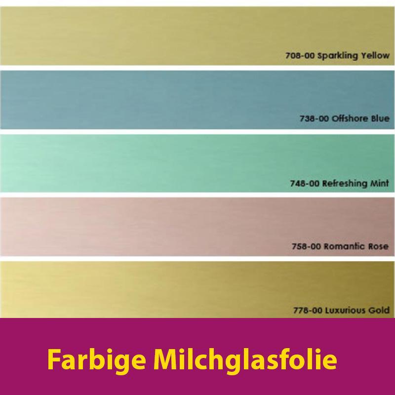 Farbige Milchglasfolie