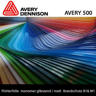 monomere Plotterfolie Avery 500 Din A4