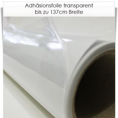 Adhäsionsfolie transparent für glatte Oberflächen