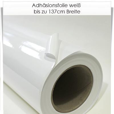 Adhäsionsfolie weiß für glatte Oberflächen