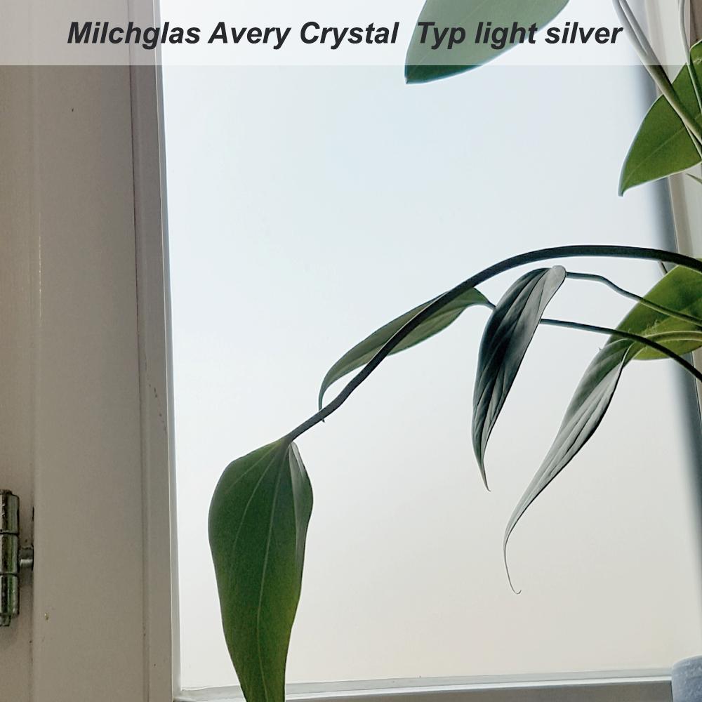 Avery Crystal EasyApply Milchglasfolie light silver