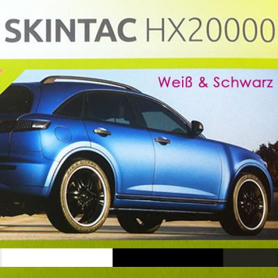 Car Wrapping Folie HX20000 Weiß & Schwarz 152cm