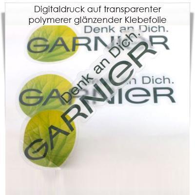 Digitaldruck auf transparenter polymerer klebefolie for Polymere klebefolie