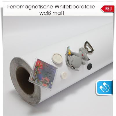 Ferromagnetische Whiteboardfolie weiß matt
