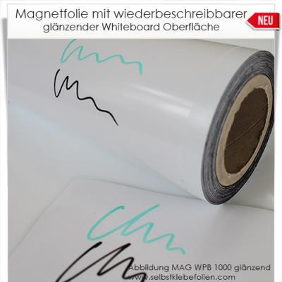 Magnetfolie mit Whiteboardoberfläche glänzend