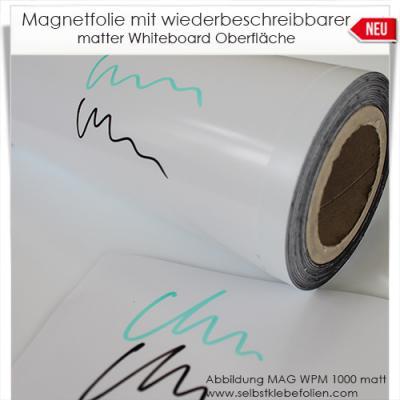 Magnetfolie mit Whiteboardoberfläche matt