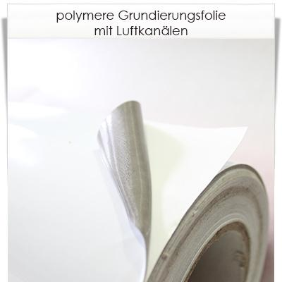 polymere weiße Klebefolie mit Luftkanälen