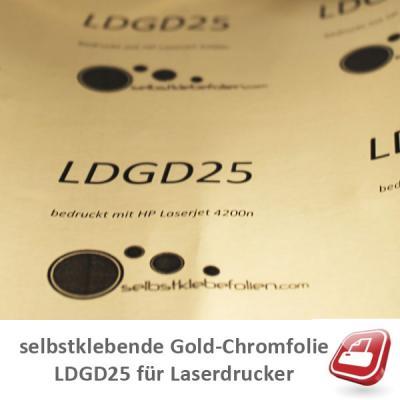 selbstklebende Chromfolie Gold für Laserdrucker A4