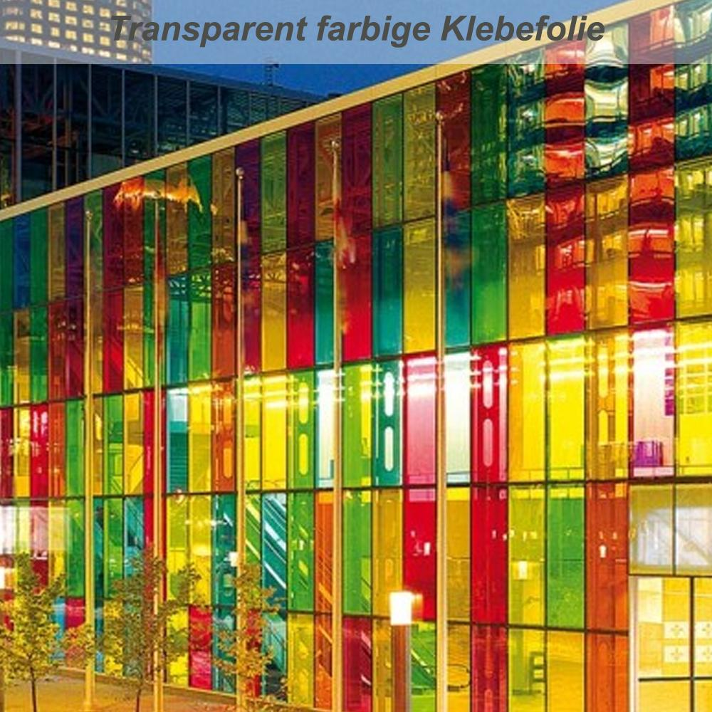 Transparent farbige klebefolie f r glasoberfl chen for Polymere klebefolie
