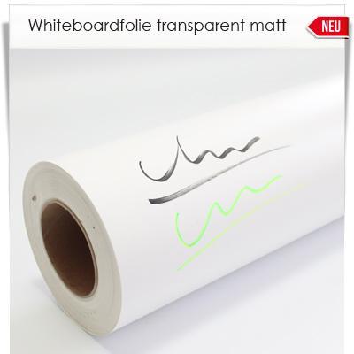Whiteboardfolie transparent matt
