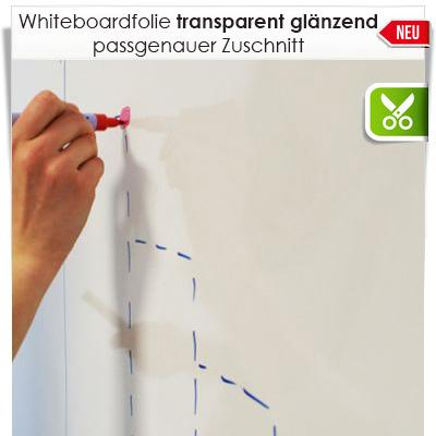 Zuschnitt Whiteboardfolie transparent