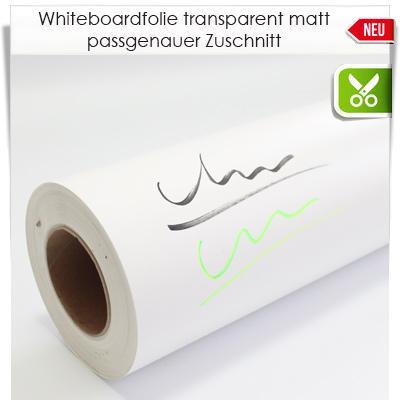 Zuschnitt Whiteboardfolie transparent matt