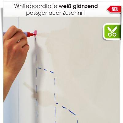 Zuschnitt Whiteboardfolie Weiß