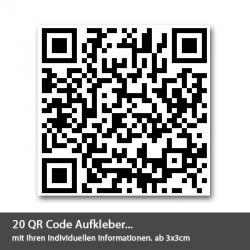 QR Code Aufkleber 20 Stück