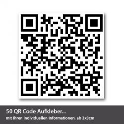 individuelle qr code aufkleber ab 1 st ck. Black Bedroom Furniture Sets. Home Design Ideas