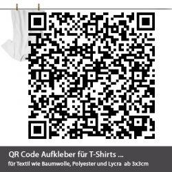 QR Code Aufkleber für T-Shirts